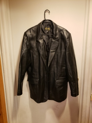 Leather jacket for sale from estate sale in Billings Montana
